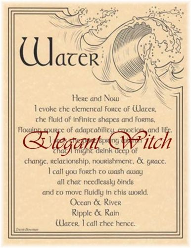 Parchment-Evocation-of-Element-of-Water-Book-of-Shadows-BOS-Page-Wicca-Witch