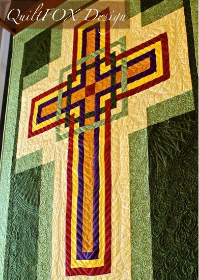 Cross Quilt Pattern - Carpenters Corner Cross - Celtic Cross - Wall ...