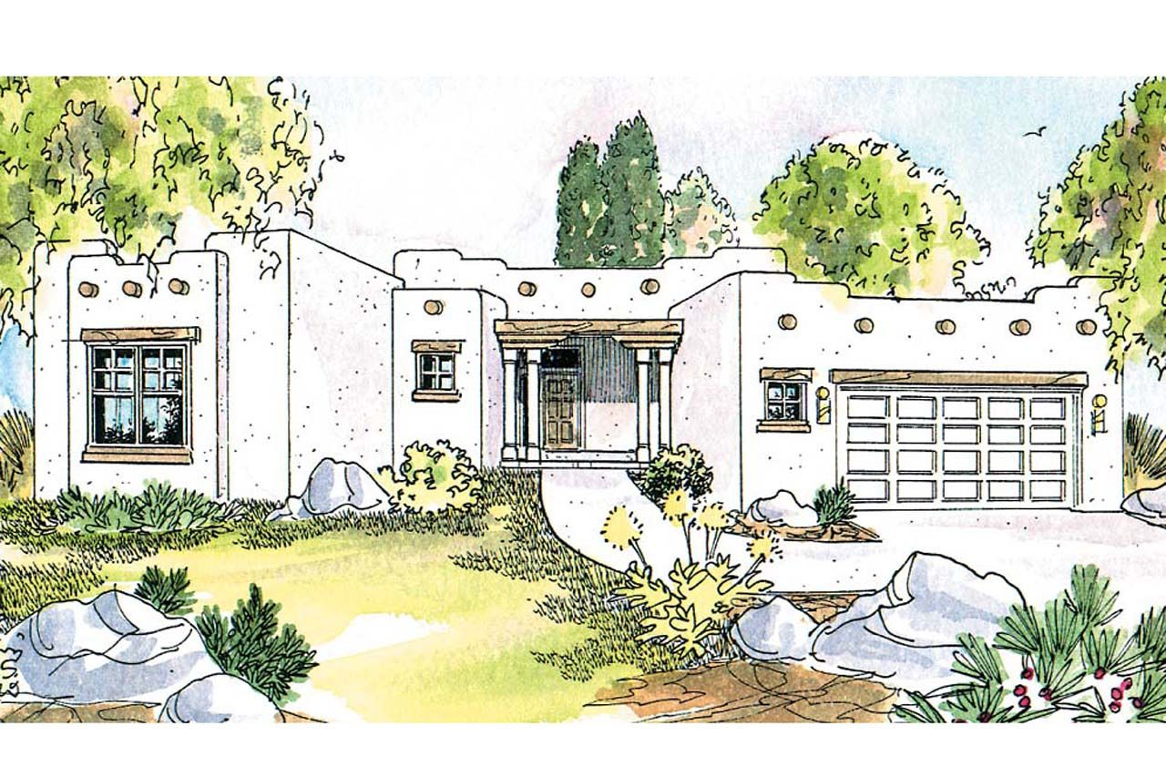 Southwest house plan the Mesa Verde is a 1760 sq ft, 1 story ... on small swiss chalet house plans, small contemporary house plans, small octagon house plans, small ranch house plans, small southern plantation house plans, adobe home house plans, small spanish colonial house plans, small patio home house plans, mexican house plans, pueblo homes house plans,