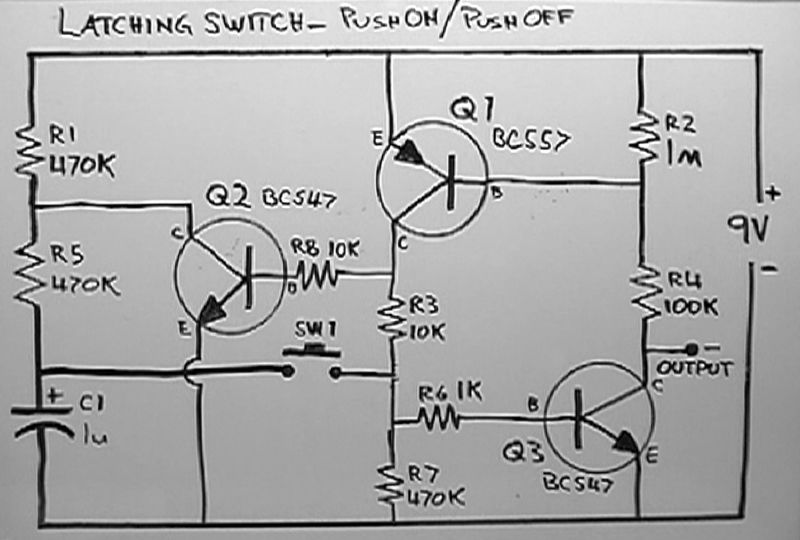 Electric Generator Diagram Latching Relay Circuit Diagram Power