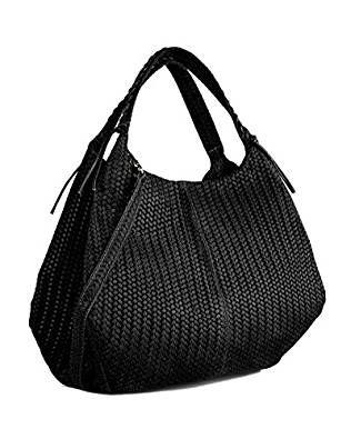 DEEP ROSE Borsa in Vera Pelle Donna Made in Italy a spalla mano shopper  pelle BAG d94300a2355