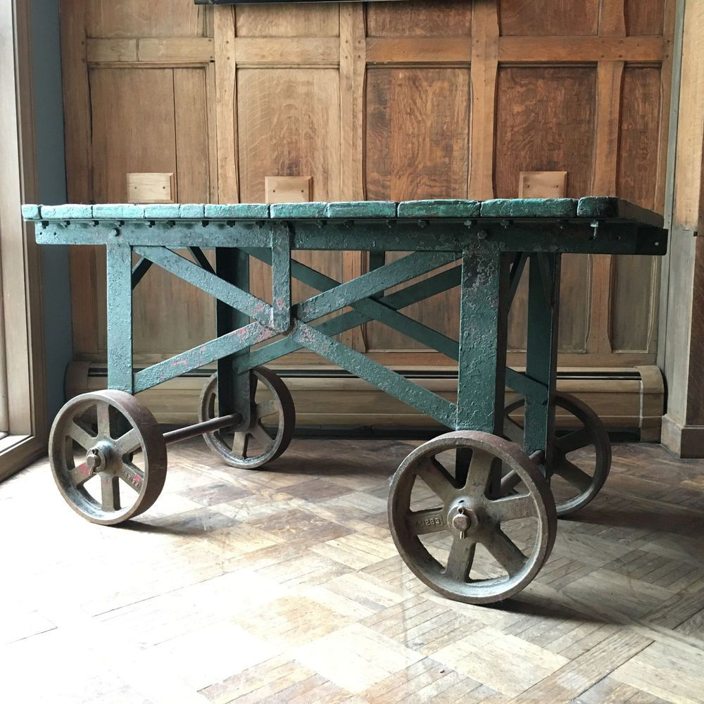 Vintage Factory Cart, Industrial Factory Cart, Industrial ...