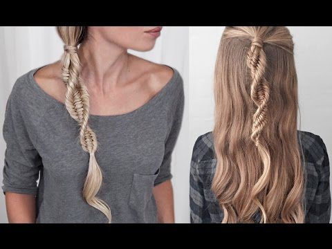 DNA Braid Three Strand Fishtail Braid Spiral Braid Easy - Braid diy pinterest
