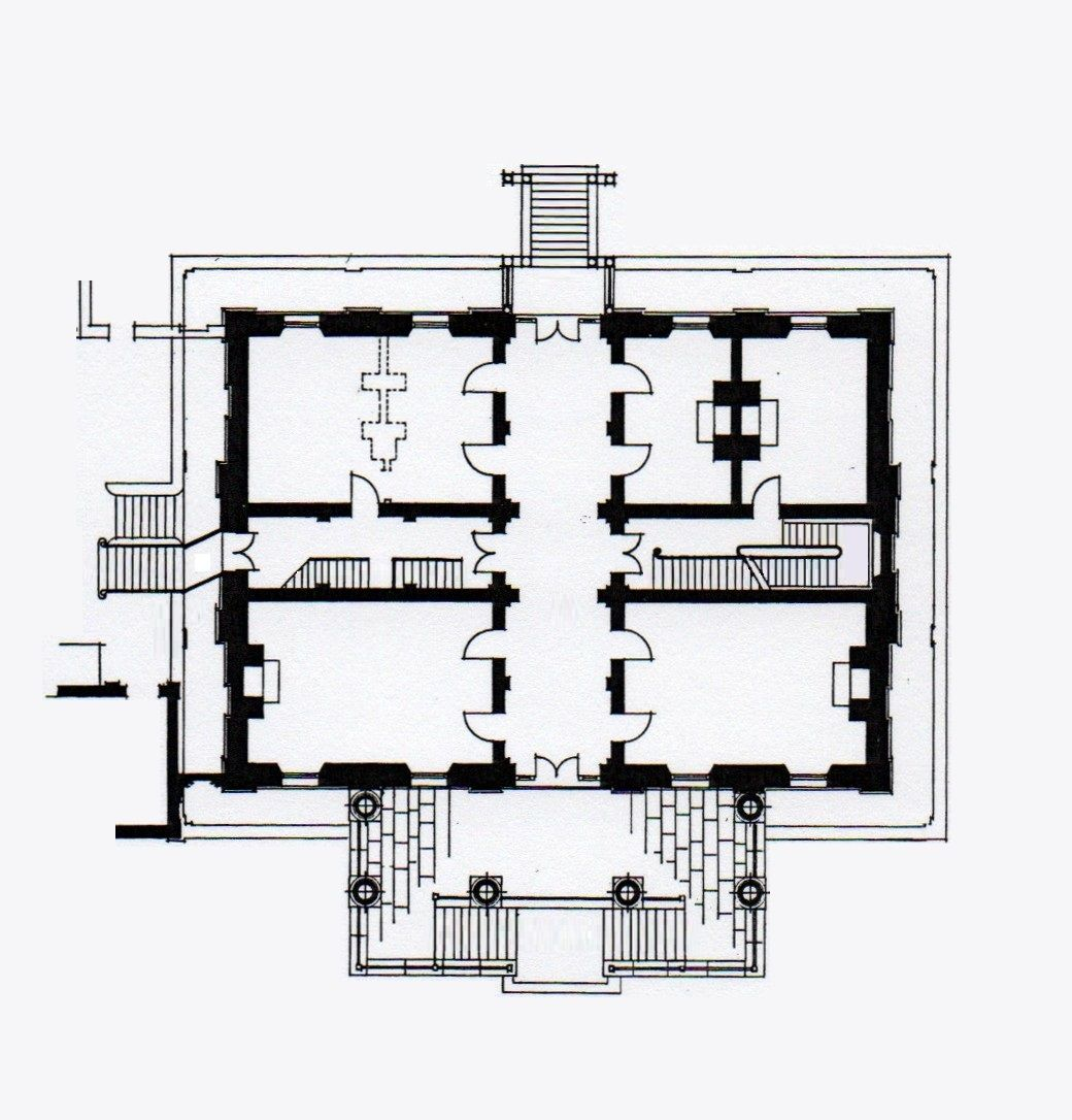 clarendon house  evandale  tasmania  ground floor plan