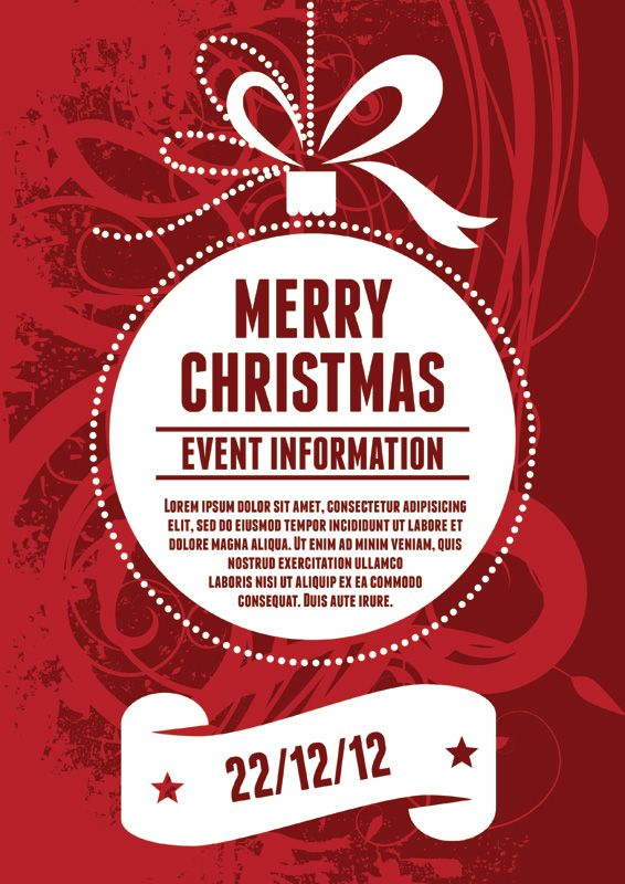 Poster Template Christmas Christmas Party Poster