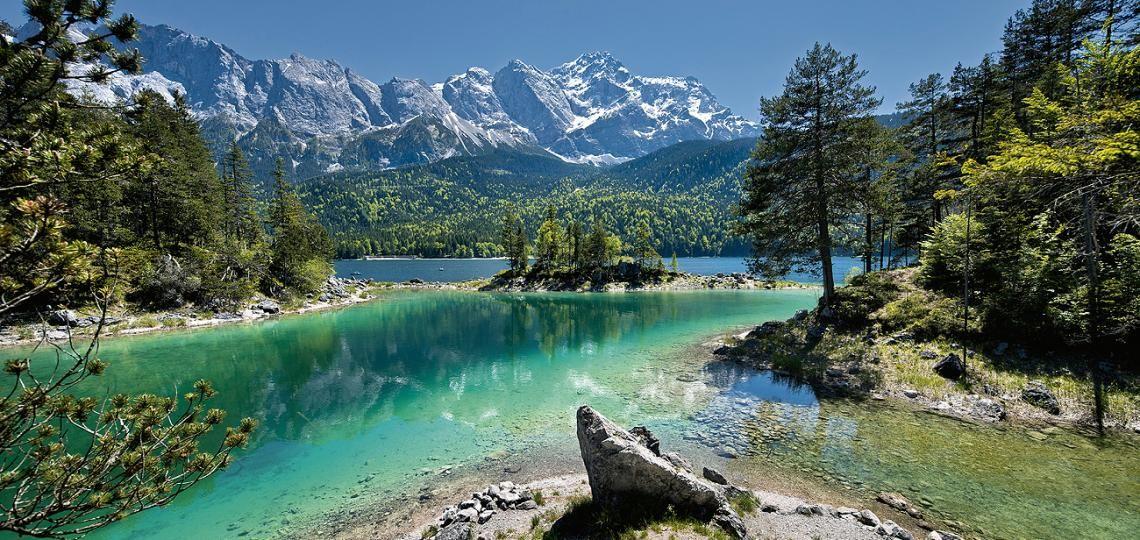 Zugspitze Und Eibsee Bei Grainau Und Garmisch Partenkirchen Surf Trip Vacation Excursions