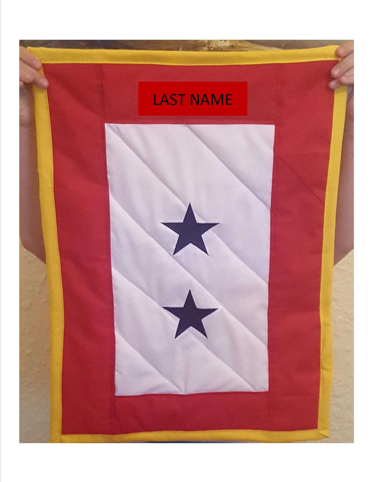 Deployment blue star quilted wall hanging army wife