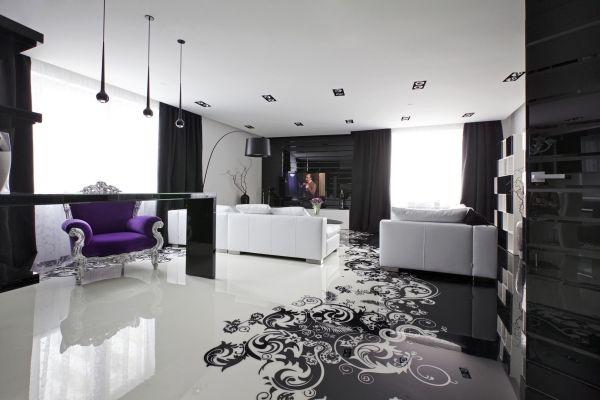 Captivating Die Erstaunliche Moderne Wohnung In Schwarz Weiß Ist Ein Projekt Von  Geometrix Design Studio Entworfen Und Zeichnet Sich Durch Raffiniertes  Design Und Great Ideas