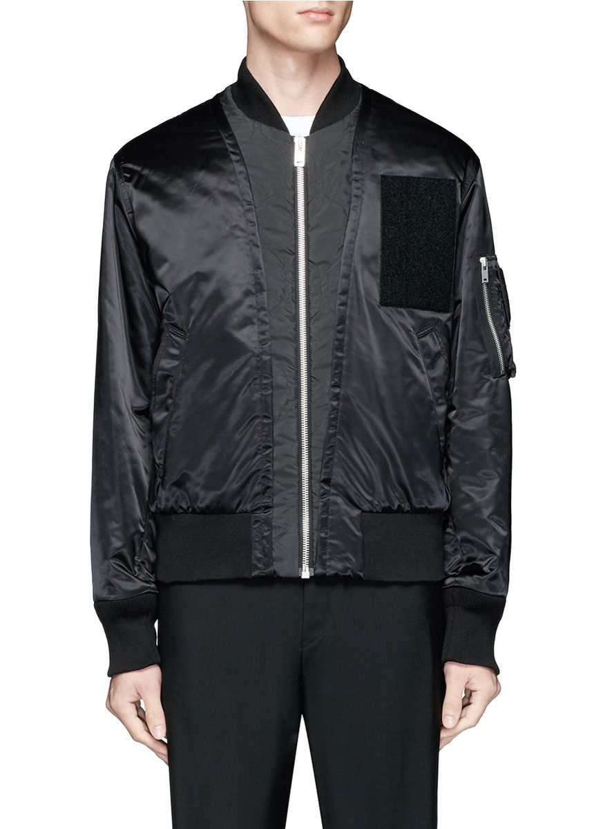 satin patch shirt - Black Maison Martin Margiela Shop Cheap Price Free Shipping New Styles yPKuhhzed