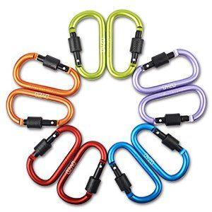 10Pcs Mountaineering Carabiner Rope Clip Hook Keys Chain Rock Climbing