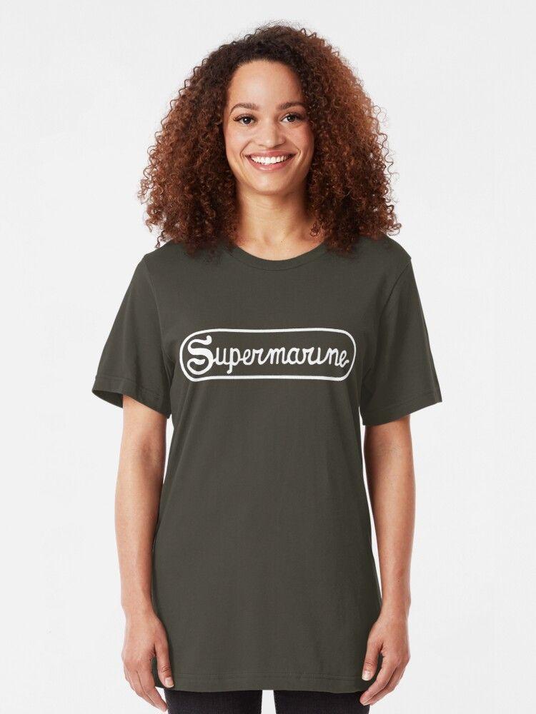 Supermarine Aircraft Company Logo  White Tshirt by warbirdwear