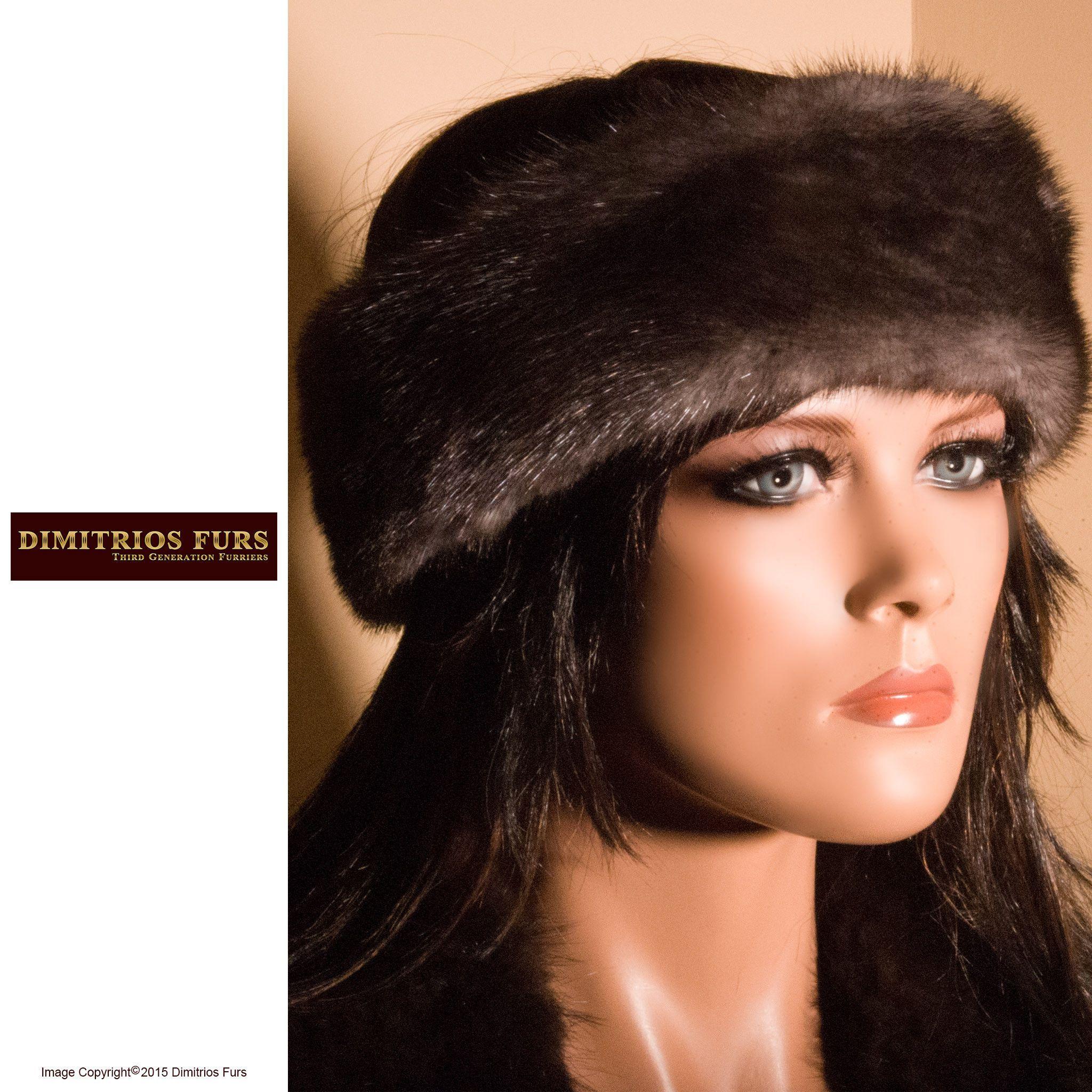 Fur Headband - Dark Gray Mink