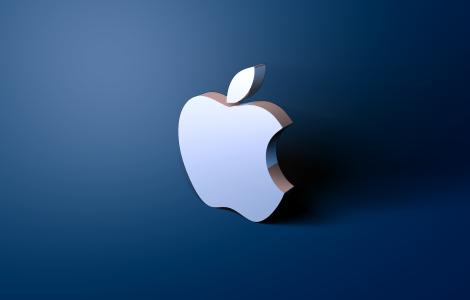 3D Blue Apple Logo Wallpapers HD in 2019  Apple logo wallpaper