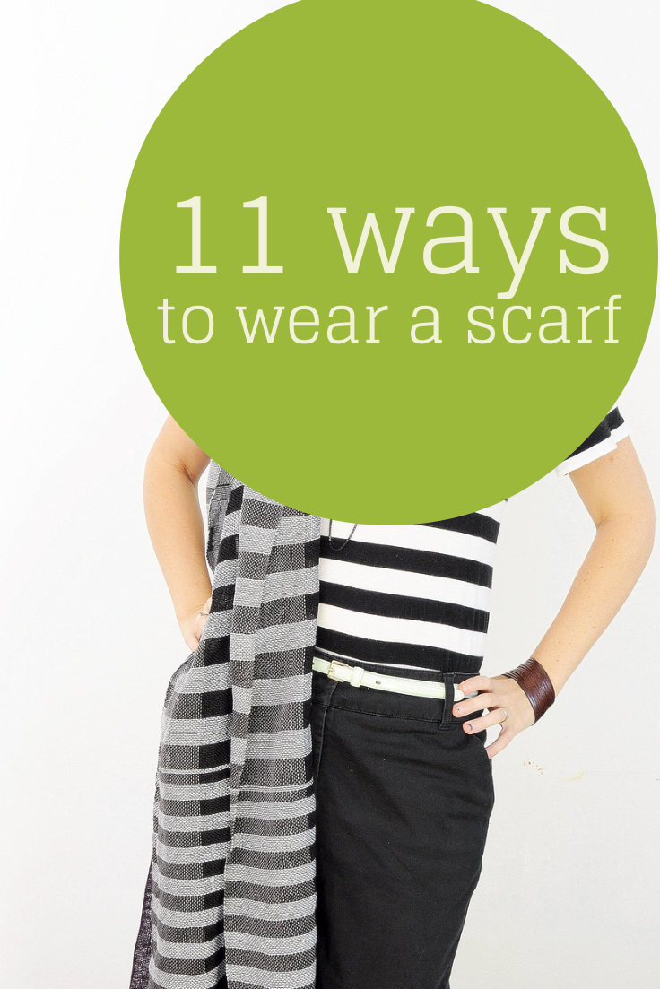 click for tips on how to wear a scarf