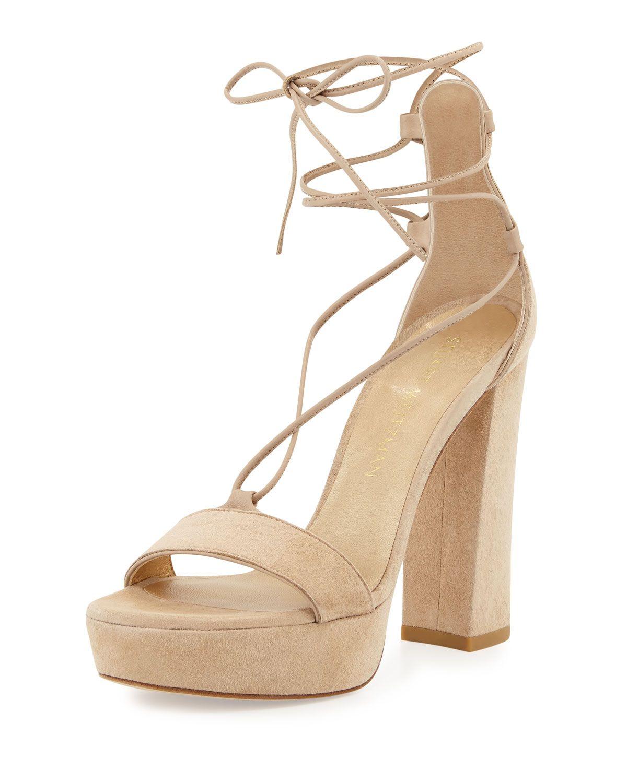 eec125c3c74 Stuart Weitzman suede sandal. 4.5