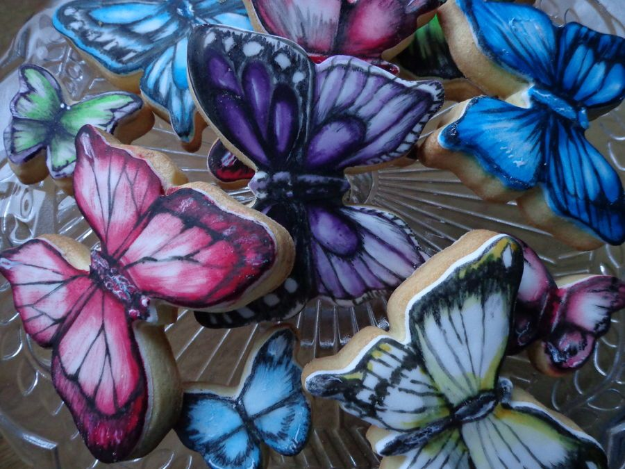images of butterfly cookies' | Butterfly cookies.
