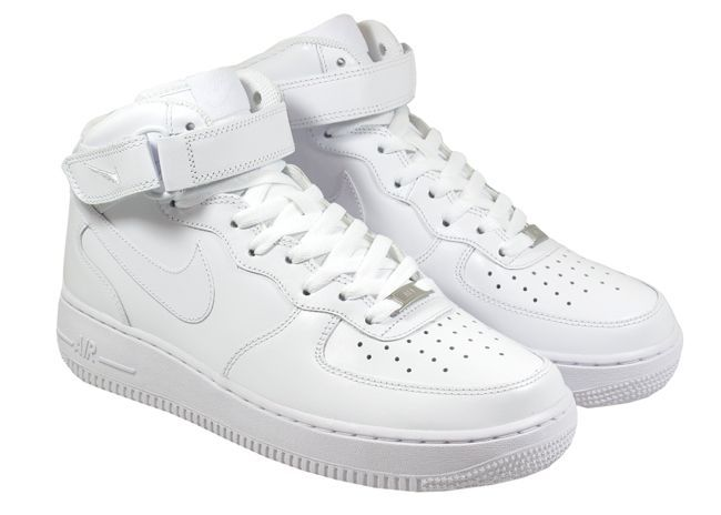 Nike Air Force 1 Blanc De Haute Montante Mens
