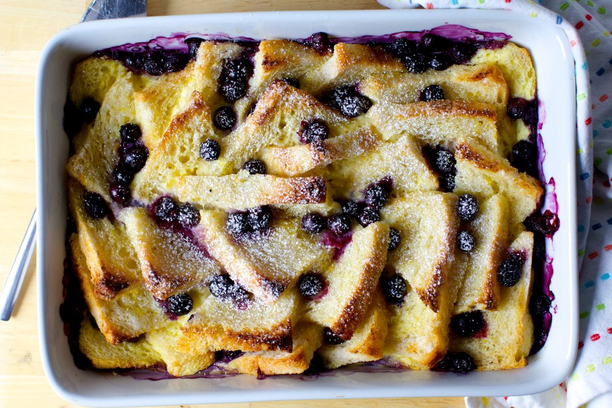 blueberry bread and butter pudding   smittenkitchen.com