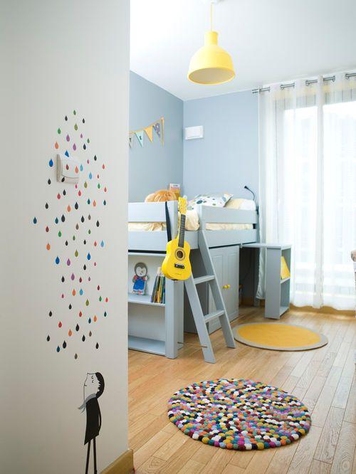 Cette Image Montre Une Chambre D'Enfant De 4 À 10 Ans Design De