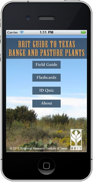 Botanical Research Institute of Texas' iPhone app that