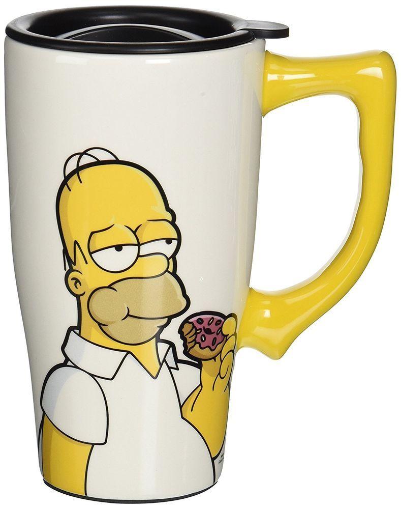 The Simpsons Homer Simpson 16 Ounce Ceramic Travel Mug With Locking Lid