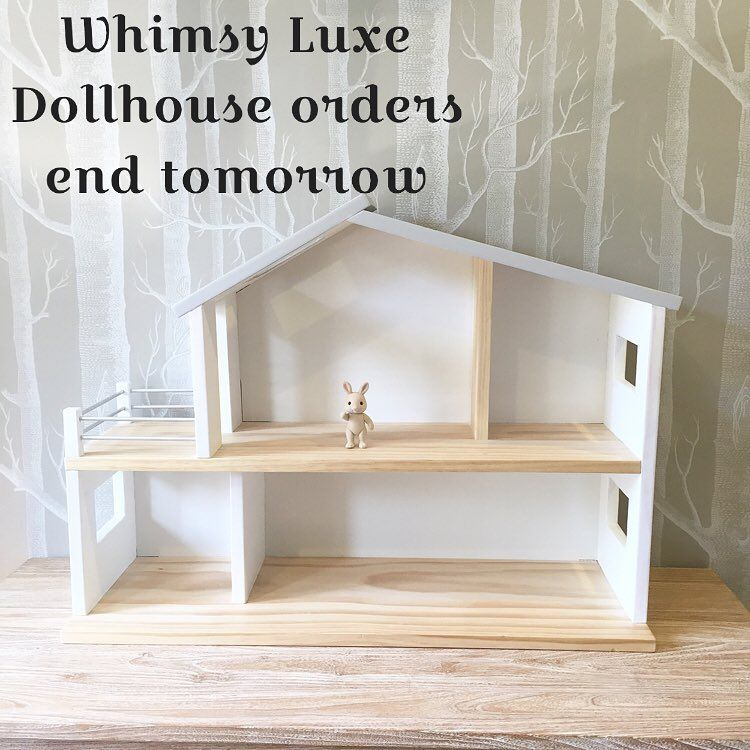 All I can say is THANK YOU!!!! Our Whimsy Luxe Dollhouses have been soo well received and I am feeling so fortunate to have all of your support and encouragement.  We have actually met our quota for the dollhouses but I am allowing orders for the next 24 hours. Construction of these houses start next week so you HAVE to place your order now if you'd like one before Christmas.  Due to the weight and size of these houses we can not ship overseas at this point. I'm sorry about this!!