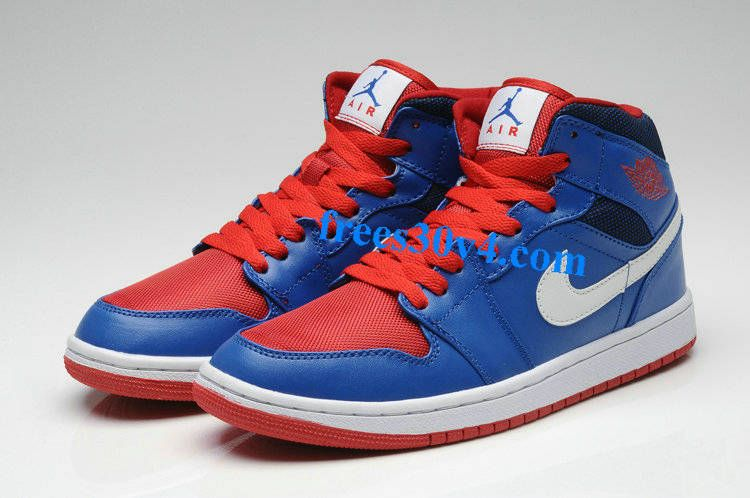 Air Jordan 1 Mid Pistons Edition Game Royal Gym Red White Basketball Shoes  for sale at