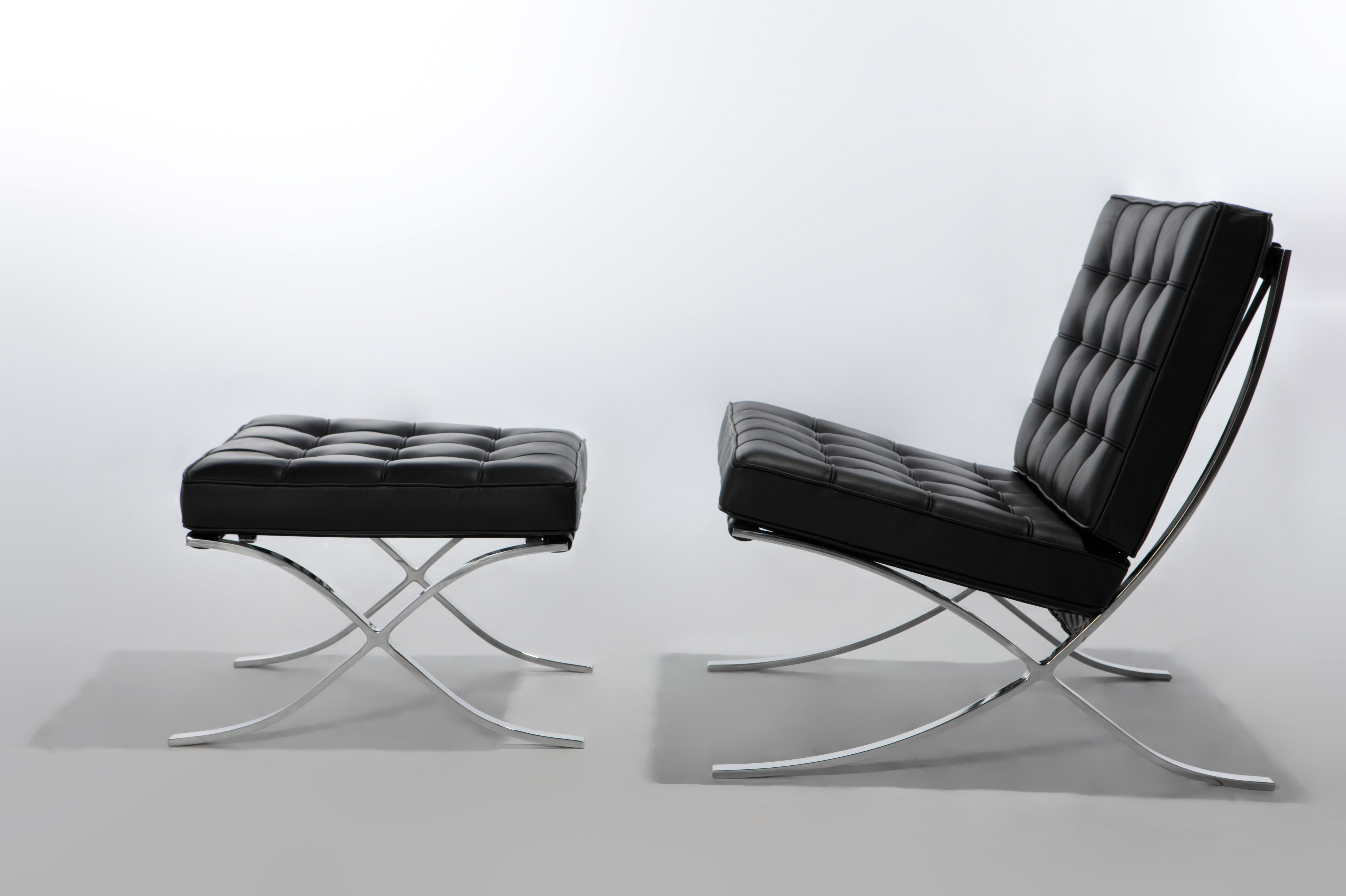This was made by Mies Van Der Rohe. They used a technique called ... | used furniture brno