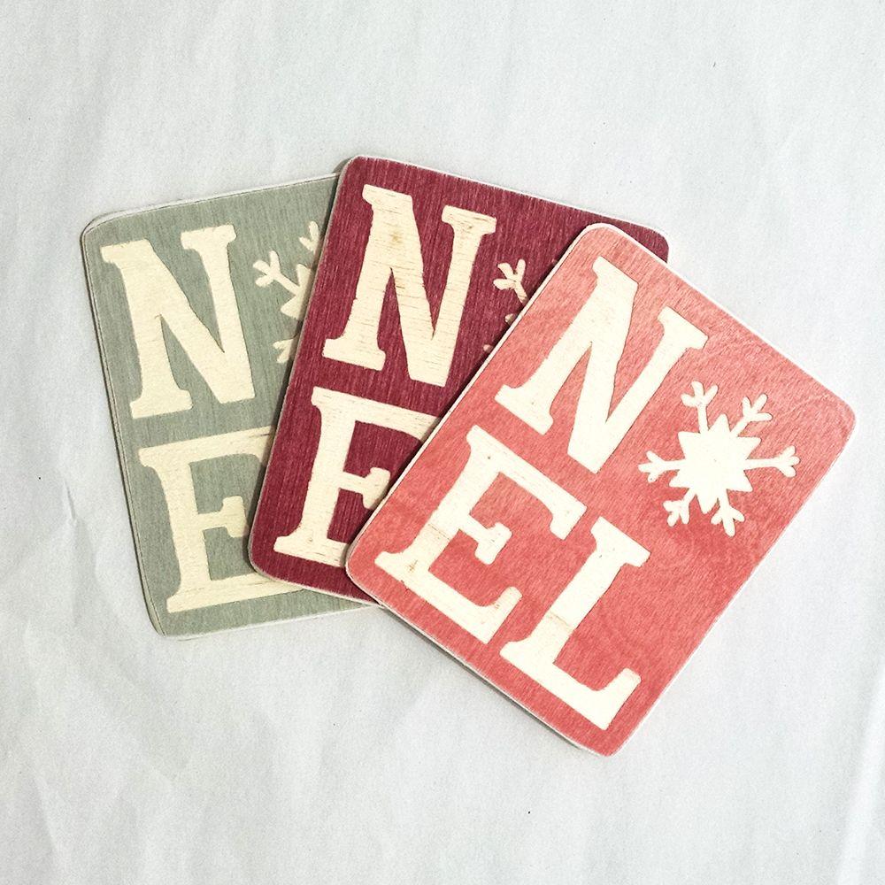 Noel christmas card noel letters wood noel sign rustic noel sign wood carved noel holiday cards with snowflake details m4hsunfo