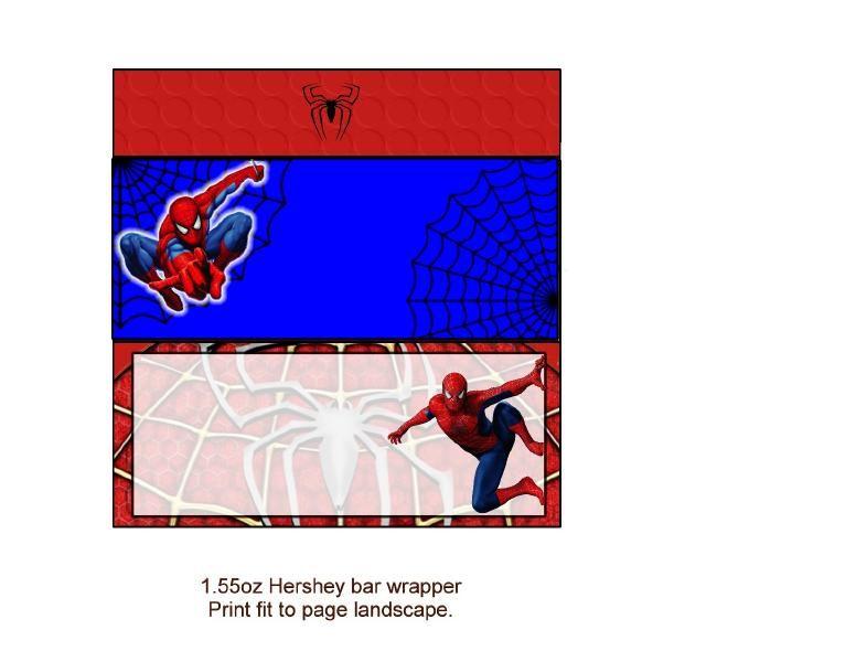 spiderman candy bar wrapper