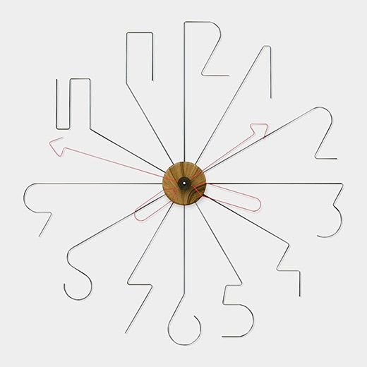 Wire clock to decorate pinterest reloj relojes de pared y industrial - Wanduhr modern weiay ...