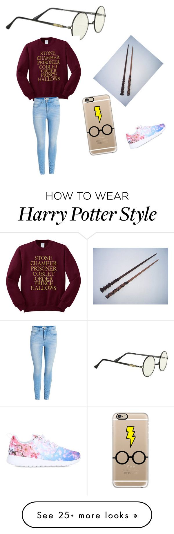 """""""Harry potter"""" by fashonwow on Polyvore featuring Casetify and NIKE"""