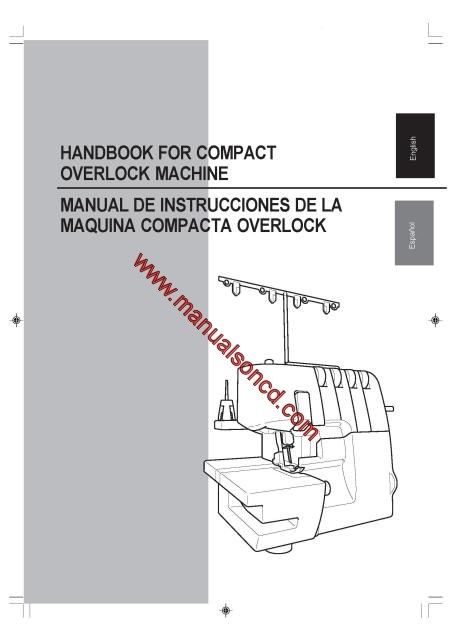 Brother 3034D Overlock Sewing Machine Instruction Manual 70 page - instruction manual