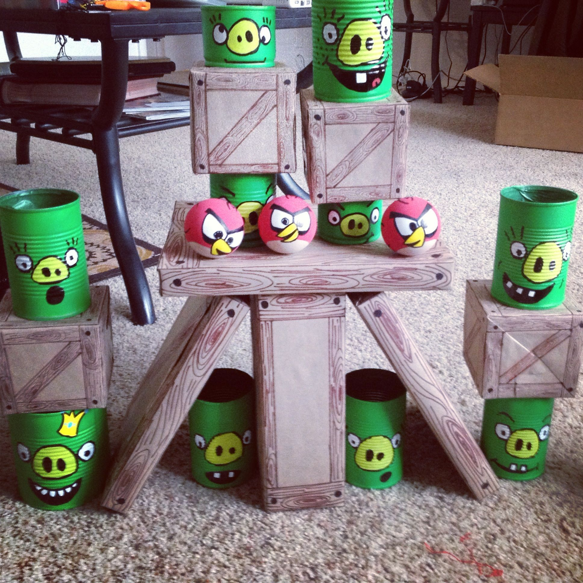 Home Made Angry Birds Game. #angrybirds