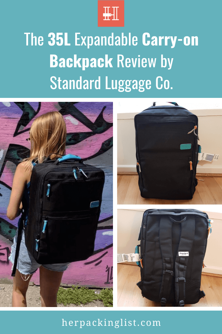 Expandable 35L Standard Luggage Carryon Backpack Review