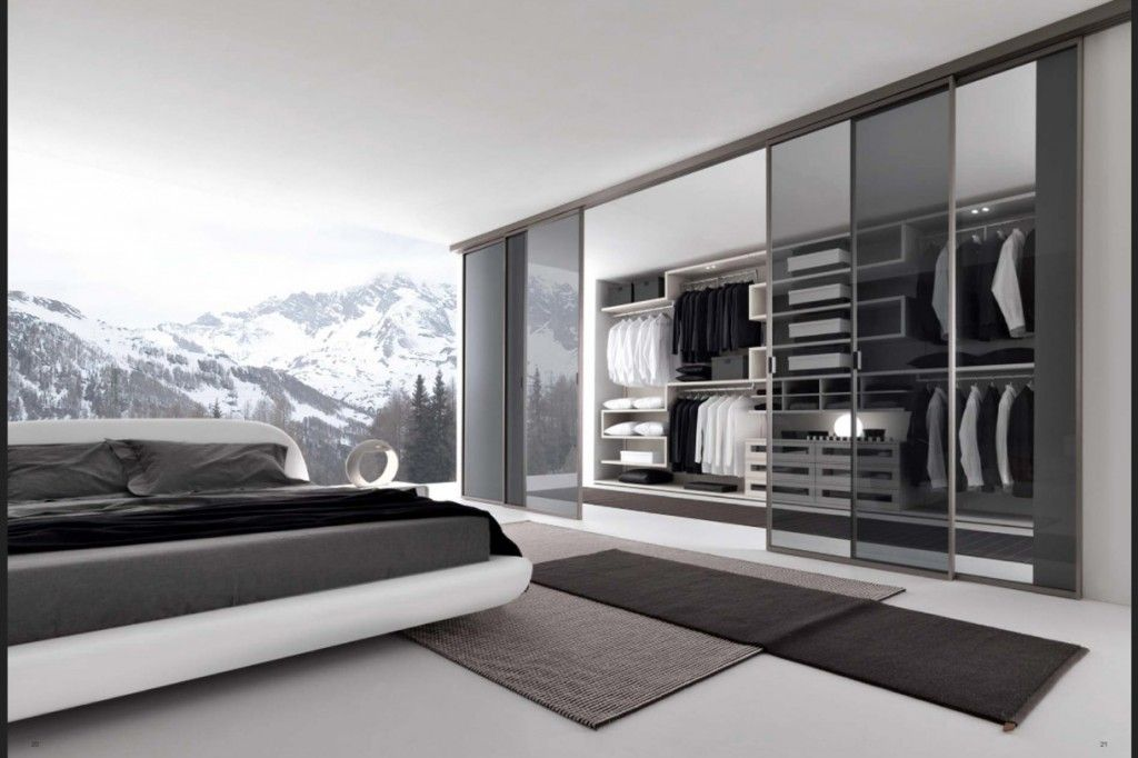 modern stylish bedroom decor with a mountain view - Stylish Bedroom Decor