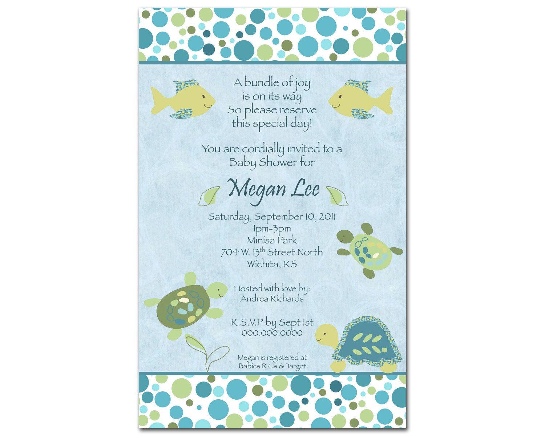 CoCaLo Turtle Reef Boy Digital Baby Shower Invitation - You Print ...