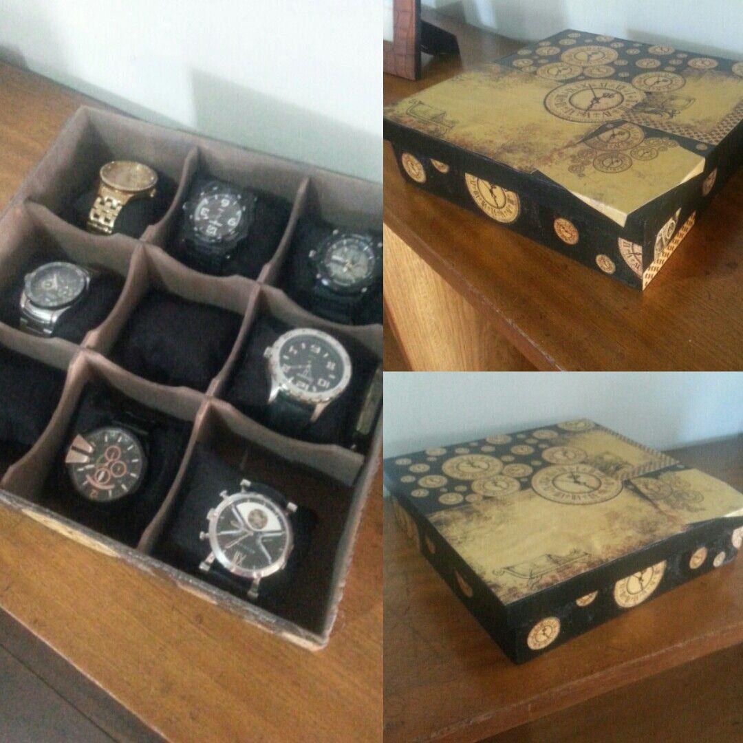 Caixa para relógios em mdf