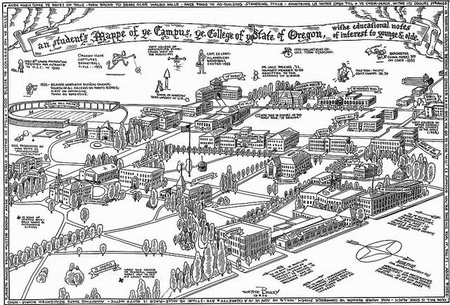 A student\'s map of OSC campus | <3 Oregon State University <3 ...