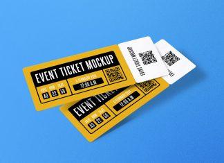 Free Paper Concert Event Ticket Mockup Psd Set Mockup Mockup Psd Concert
