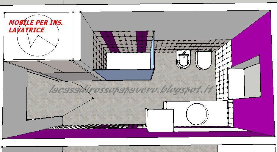 Risultati immagini per progetto bagno piccolo con doccia e lavatrice ...