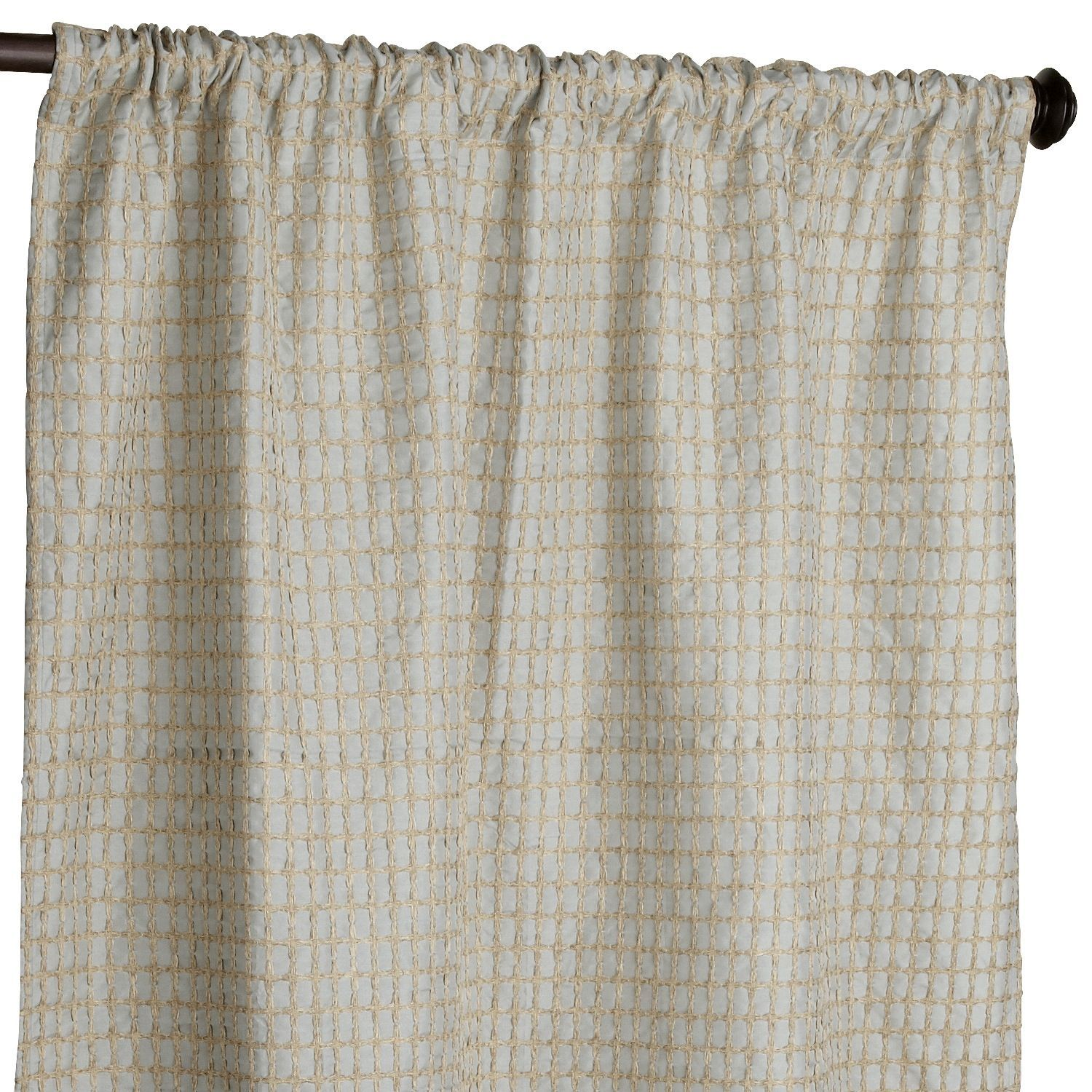 Textured waffle smoke blue curtain waffles and products
