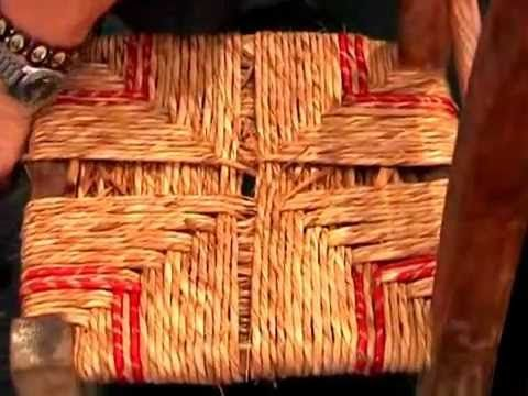 Come Impagliare Una Sedia.Impagliare Una Sedia Tutorial Youtube Learn Weaving Youtube