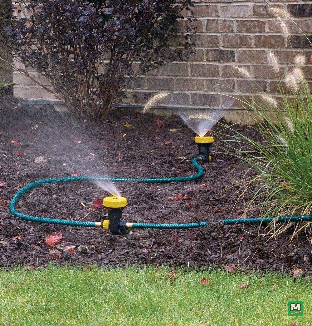 Choose Yardworks 3 000 Sq Ft Turrent Landscape Watering Kit For All Your Garden Work This 5 Piece W Water Sprinkler System Water Sprinkler Sprinkler System