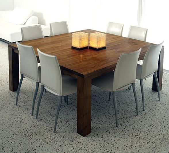 8 Seater Square Dining Room Table Square Dining Table To Seat 8  Berlin Square  Design Ideas And