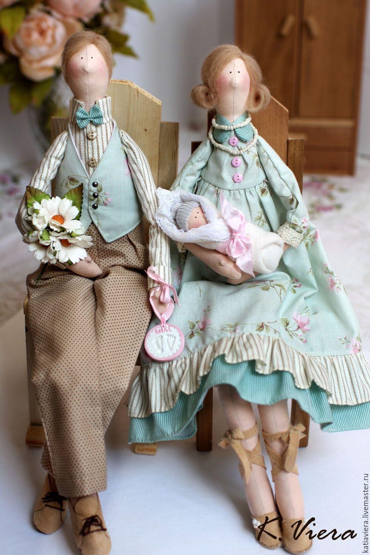 Купить Тильда семья портретная кукла - тильда, кукла ...