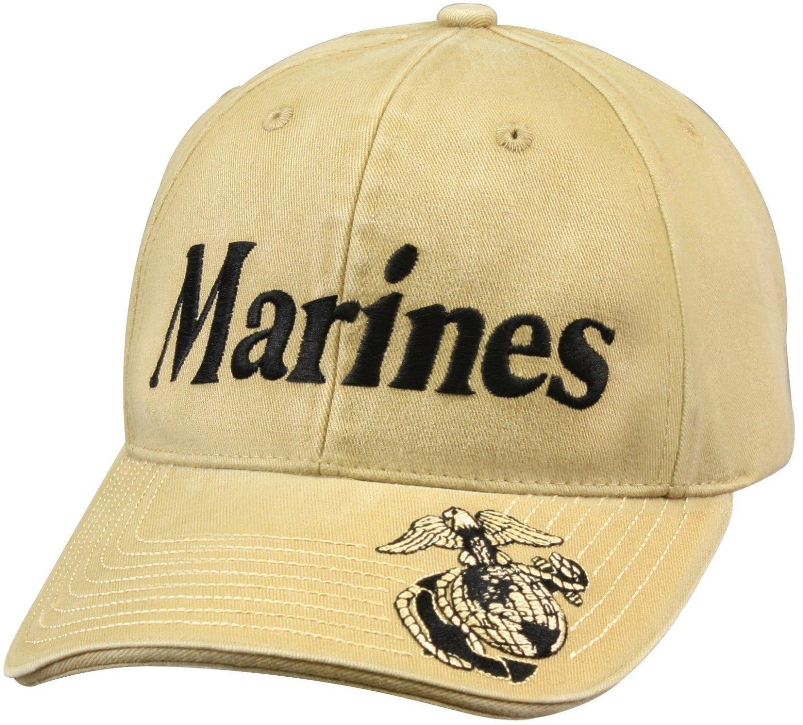 Khaki Marines - Vintage Deluxe Low Profile Insignia Cap