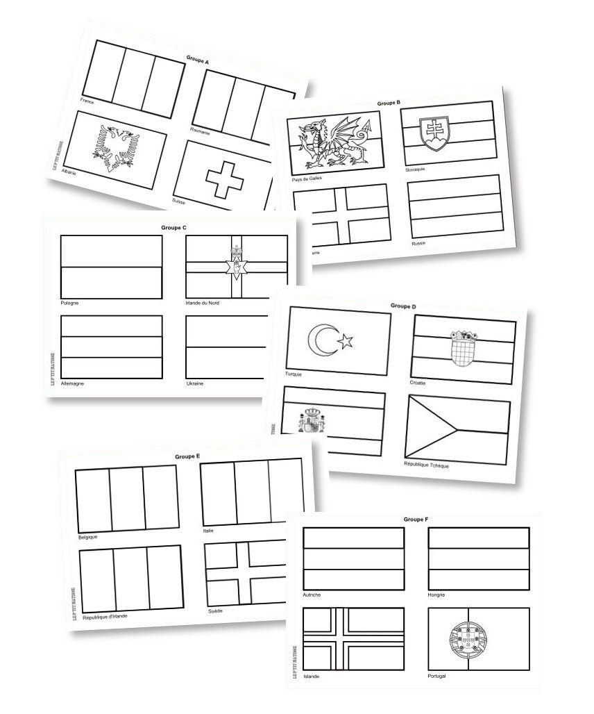 euro 2016 les 24 drapeaux colorier divers pinterest drapeau colorier et coloriage. Black Bedroom Furniture Sets. Home Design Ideas