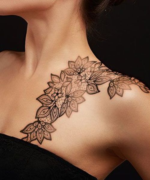 74974aee5 Flower Lace Shoulder Tattoo Designs for Women | ME! | Elegant ...
