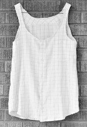 Transform a men's dress shirt with this DIY Tank Top sewing tutorial. With this wardrobe refashioning project you'll have a flowy summer top in no time! You'll love this easy and breezy tank top.